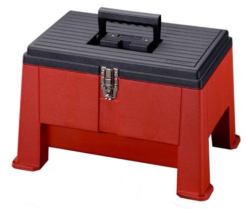 Stack-On SSR-20 Step 'N Stor Step Stool (Black/Red)