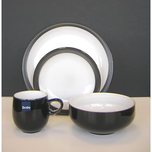 Jet Black 16 Piece Boxed Tableware Set