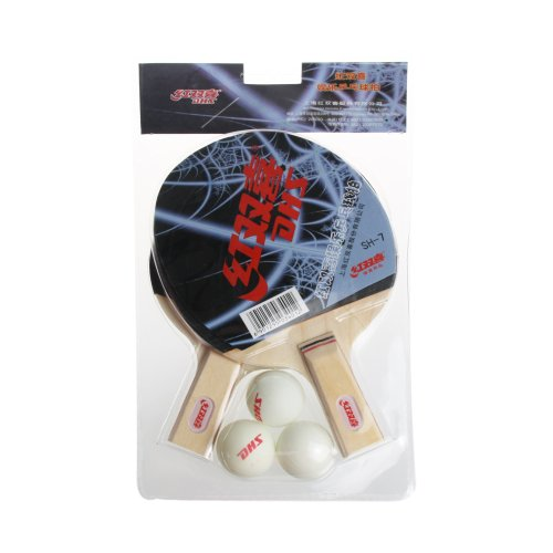 DHS Classic 2 Player (Penhold) Recreational Table Tennis Racket Set