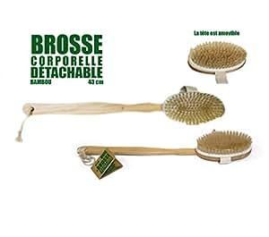 Brosse corporelle détachable Bambou