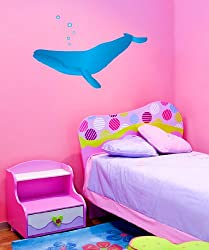 Vinyl Wall Decal Sticker Whale Bubbles MGeise112s