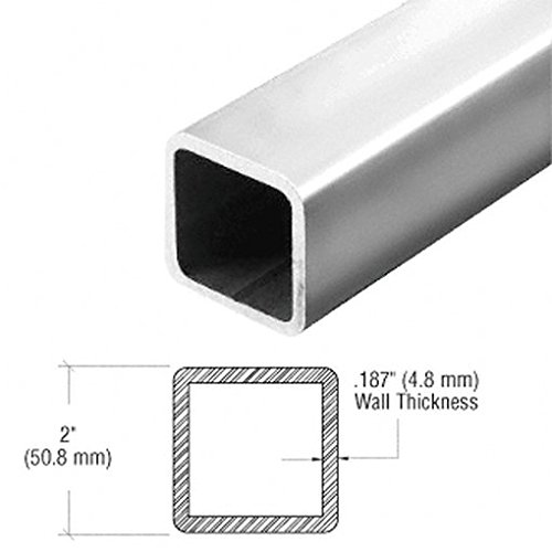 "Polished Stainless 2"" Square O.D. Pipe Rail Tubing front-333194"