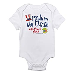 CafePress Made in the USA with French Parts Infant Creeper French Infan - 18-24M Cloud White