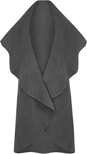 WearAll -  Cappotto  - Donna grigio scuro Taglia unica