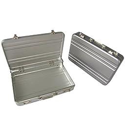 vanki 1 X Hot Mini Briefcase Business Card Case Coin Case Aluminium Credit Card Holder