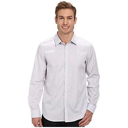 (カルバンクライン) Calvin Klein メンズ トップス 長袖シャツ Fine Multicheck Dobby Long Sleeve Woven Shirt 並行輸入品