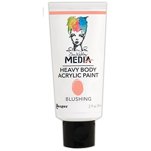 Ranger MDP48794 Dina Wakley Media Heavy Body Acrylic Paint, 2 oz, Blushing (Dina Wakley Paint compare prices)