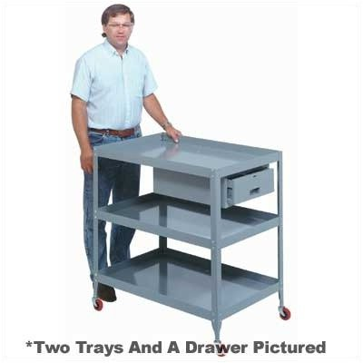 Lyon PP3103 Mobile Tool Stand with 2 Tray, Drawer and Casters, 20