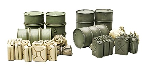 Tamiya Models Jerry Can and Oil Drum Set