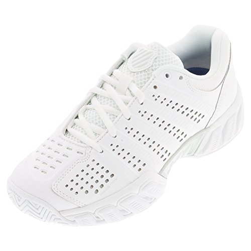 K-Swiss Women's Bigshot Light 2.5 Tennis Shoes (White/White) (9 B(M) US)