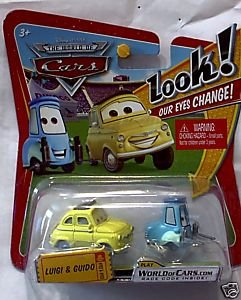 Disney / Pixar CARS Movie 1:55 Die Cast Car with Lenticular Eyes Luigi and Guido - 1