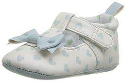 Rosie Pope Kids Footwear Prewalker I Love Hearts Crib Shoe (Infant), Aqua, 6-9 Months M US Infant