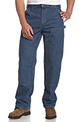 Carhartt Men's Double Front Logger Washed Denim Dungaree