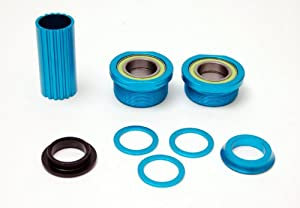 Eastern Bikes Euro Bottom Bracket Set (Matte Hot Blue, 19mm)