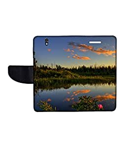 KolorEdge Printed Flip Cover For Sony Xperia Z Multicolor - (50KeMLogo11227XperiaZ)