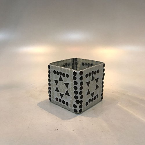 Dlite Crafts Multicolor Polka Design Home Decorative Votive Candle Holder, Set Of 2 PCs - B06XYJLKZX