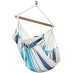 La Siesta singola sedia a dondolo CARIBEÑA amaca per 1 persona portata 130 kg diversi colori - blu, tessuto