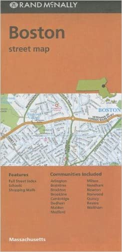 Rand McNally Folded Map: Boston Street Map