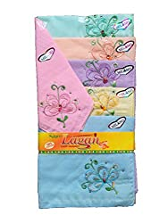 Milano Ladies Fancy cotton hankies- 6 Pcs Pack