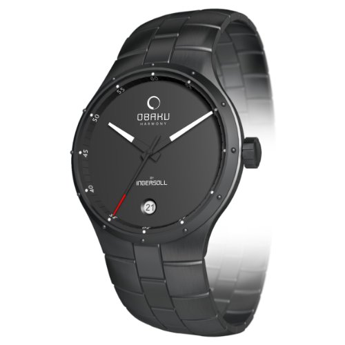 Obaku By Ingersoll Gents Black Dial Bracelet Watch
