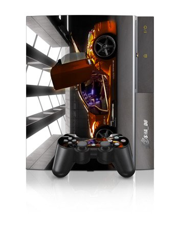 Z33 Light Design Protector Skin Decal Sticker for PS3 Playstation 3 Body Console