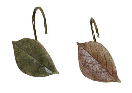 Bacova Guild Sheffield Shower Curtain Hooks (Leaf Shower Curtain Hooks compare prices)