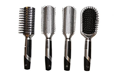 Viva Icicles Professional Hair Brush Set (4 Pack) (Hot Dog Curling Iron compare prices)