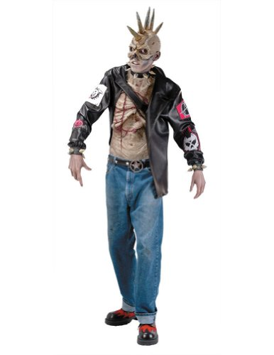 Punk Zombie Costume Adult Mens Costume