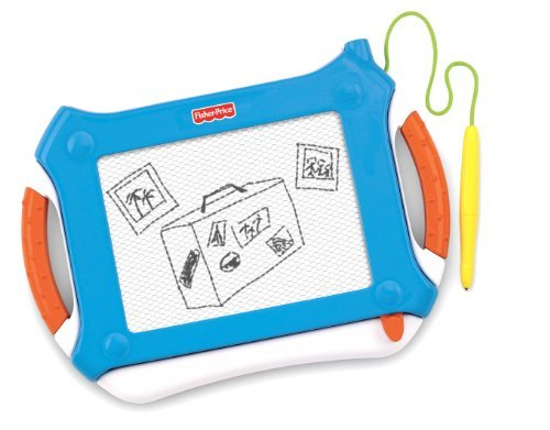 Mess Free Drawing For On The Go - Fisher-Price Travel Doodler Pro - Blue