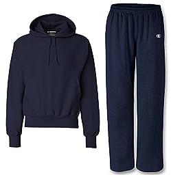 Champion Men\'s Reverse Weave Sweatsuit, Medium, Navy