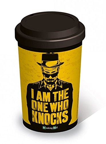 """Breaking Bad - Tazza da viaggio, in ceramica, scritta: """"I Am the One Who Knocks"""""""