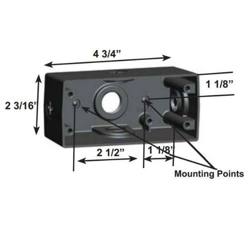 Rab-10462A - Junction Box For Use With Rab Wpled10 Led Wall Pack - Bronze Finish