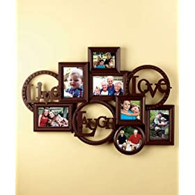 LIVE LAUGH LOVE MOUNTED WALL PHOTO COLLAGES - Crafted Design Bring Your Family Photos Together In One Elegant Collection (Espresso) Comes Ready To Hang. 20
