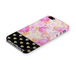 Cover Affair Floral / Hearts Printed Back Cover Case for Apple iPhone 5