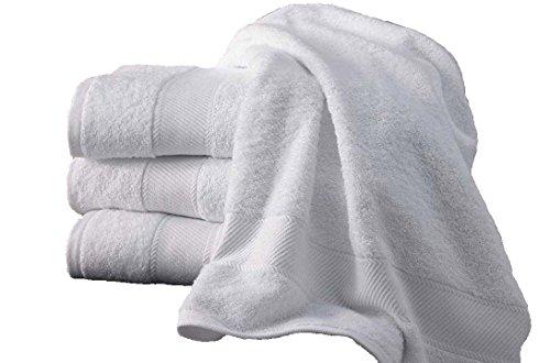 5 teli da bagno 100x150 cm 500gr / m² di cotone egiziano White Hotel (100 x 150 cm)