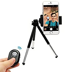 Mini bluetooth with Phone Tripod Mount Clip Stand Selfie Wireless Shutter Extendable Holder For iPhone 4 4s 5 5s 6 plus