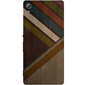 Casotec Wood Colourfull Pattern Design Hard Back Case Cover for Sony Xperia Z3 Plus / Z4