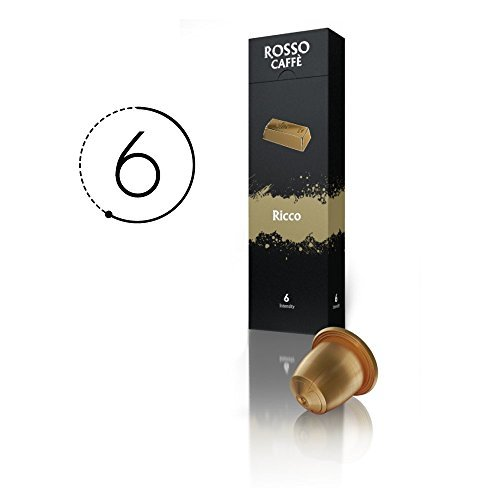 rosso caffe nespresso compatible capsules variety pack 60 pods food beverages tobacco. Black Bedroom Furniture Sets. Home Design Ideas