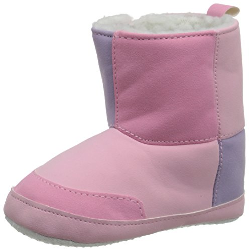 Luvable Friends Baby Girl's Winter Boots (Infant), Pink, 6-12 Months M US Infant