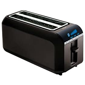 New T-Fal/Wearever T-Fal 4 Slice Toaster Black Include A Bagel Defrost And Reheat Functions