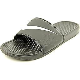 Men\'s Nike Benassi Swoosh Sandals Black/White Size 8