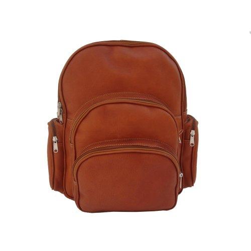 B002DIVRJK Piel Leather Expandable Backpack, Saddle, One Size