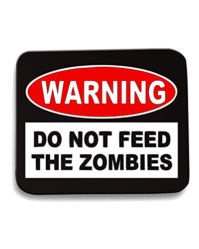 Cotton Island - Tappetino Mouse Pad TZOM0049 warning do not feed the zombies, Taglia taglia unica