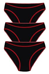 MOVEO Girl's Solid Black Panty