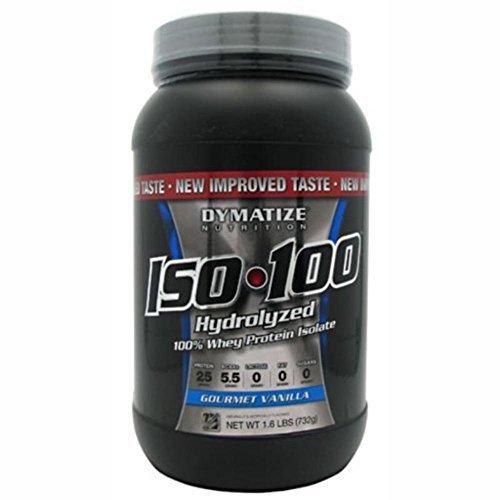 Dymatize Nutrition - Iso 100 100% Hydrolyzed Whey Protein Isolate Gourmet Vanilla - 1.6 Lbs.