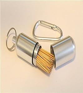 Creative outdoor aluminum alloy toothpick box creative fashion portable travel - Travel toothpick holder ...