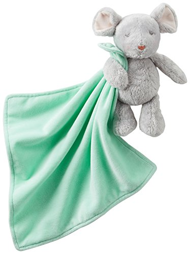 Carters Mouse Security Blanket One Size Mint green