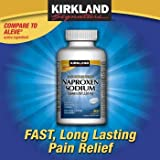Naproxen Sodium by Kirkland Signature - 400 caplets 220 mg Non Presctiption Strength - Compare to the active ingredient in Aleve