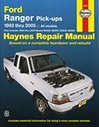 Haynes Repair Manual: Ford Ranger Pick-Ups,…