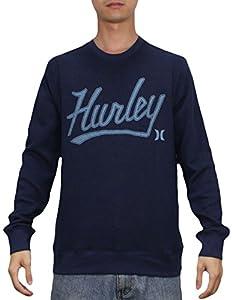 Hurley Mens Surf & Skate Pullover Sweatshirt L Dark Blue